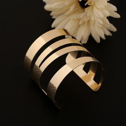 Gold Stainless Steel Pulseras Mujer..