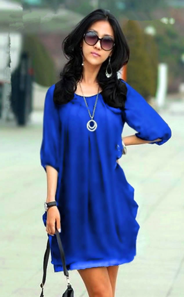 999df6e1e76 New 2013 Korean brand large size women fashion thin sleeve chiffon dress  XXXL XXXXL women summer