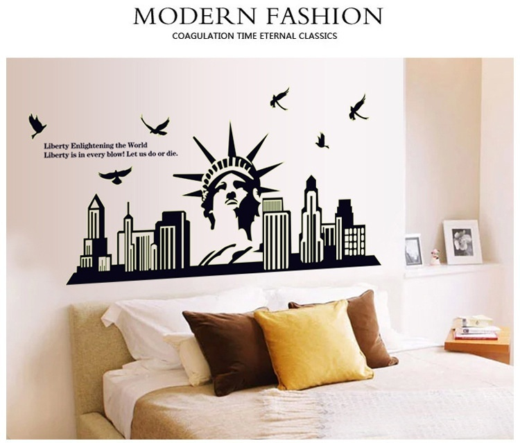 Luminous New York City Statue Of Liberty Wall Decal Sticker Home Rhluulla: New York City Home Decor At Home Improvement Advice
