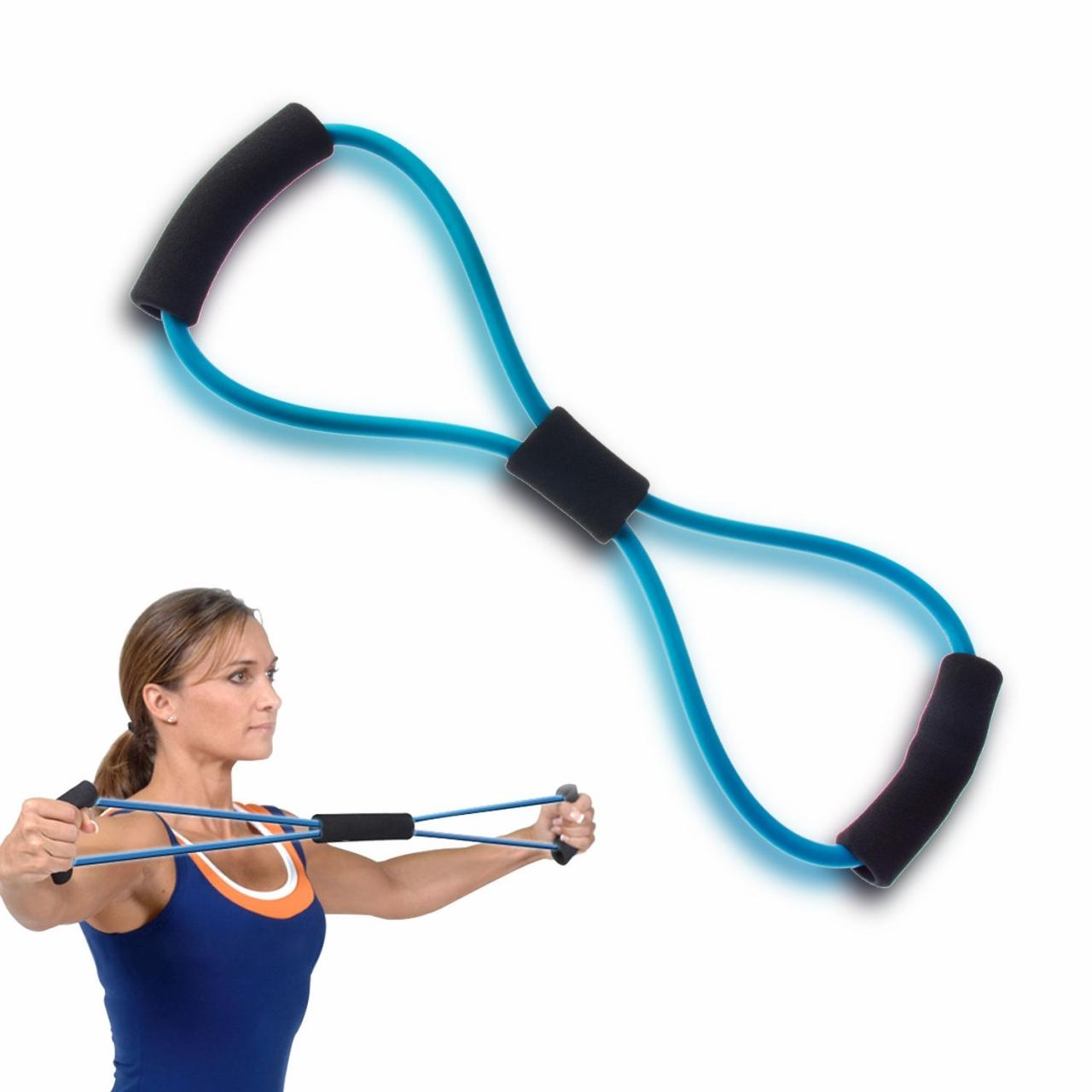 Resistance Loop Band Tube for Yoga Fitness Pilates Workout Exercise