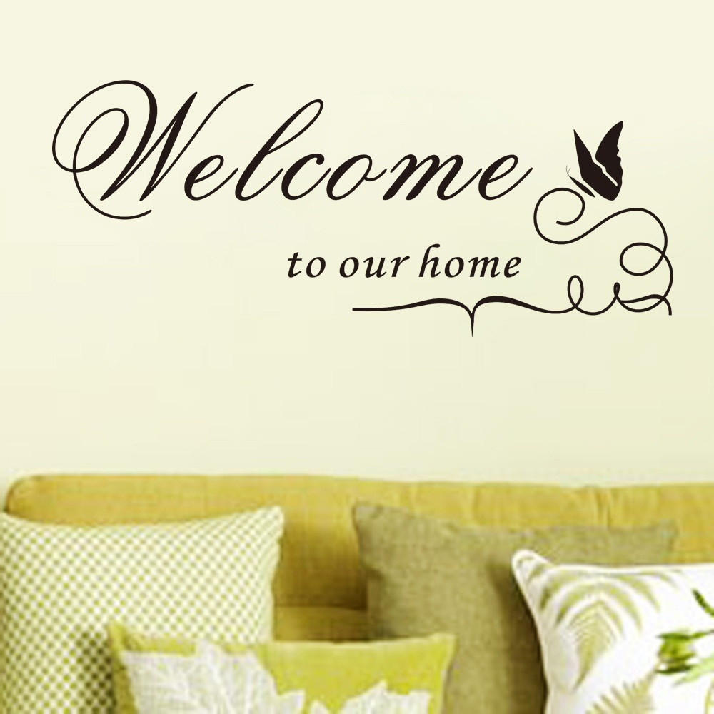 New Quote Removable Vinyl Decal Wall Sticker Welcome To Our Home ...