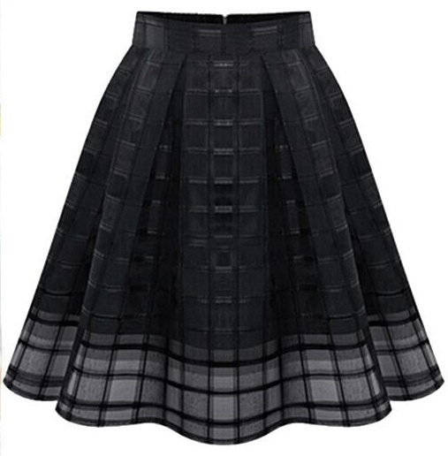 Women's Fashion Elastic High Waist Solid Zipper Chiffon Slim tassel Organza Skirts OL Ladies Organza Pleated Skirt Female Skirt,ty0147 zkc uncle