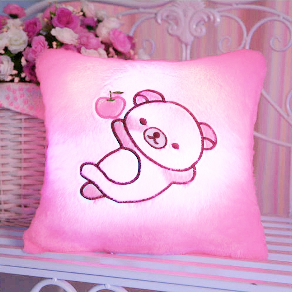 Colorful Pig Glow LED Luminous Pillow (Color: Pink) on Luulla