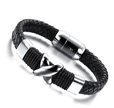 OPK Brand Casual Magnet Real Leather Bracelets Fashion Personality X