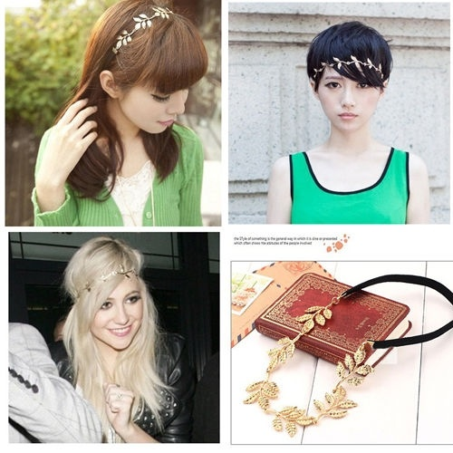 Unique Elegant Women's Retro Vintage Hollow Leaf Elastic Hair Band Headband