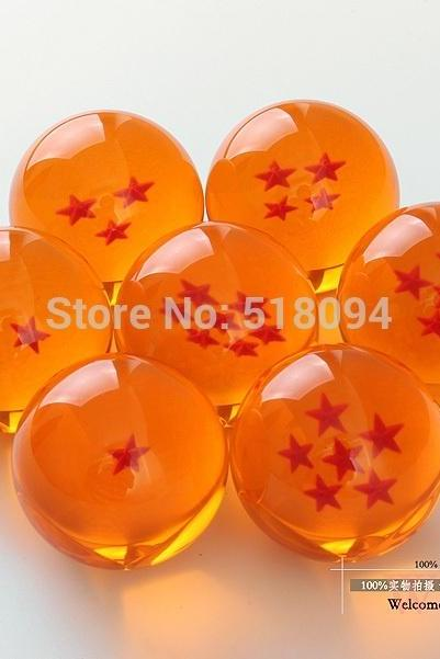 Dragon Ball Z 1set 3.5CM DragonBall 7 Stars Crystal Ball Set of 7 pcs Dragon Ball Z Balls Complete Set New In Box (Color: Orange)