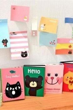 Animals Sticker Post-It Bookmark Point It Marker Memo Flags Sticky Lovely Notes