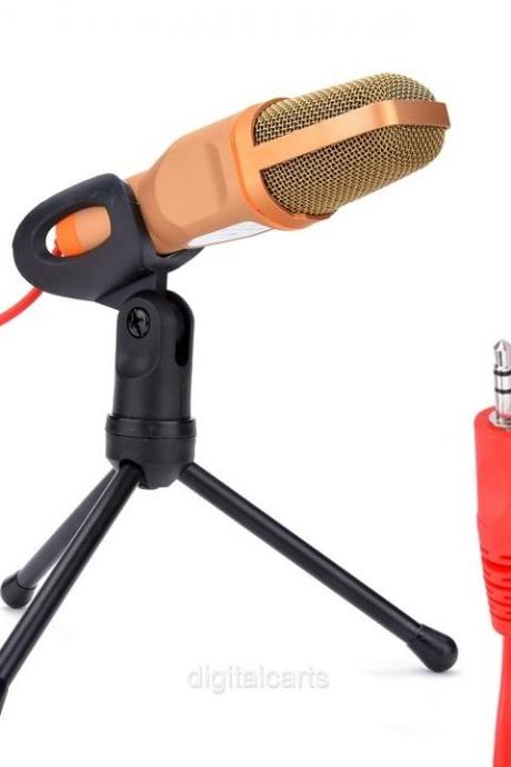 3.5mm Audio Jack Podcast Studio Microphone Stand For Skype Video Singing D_L