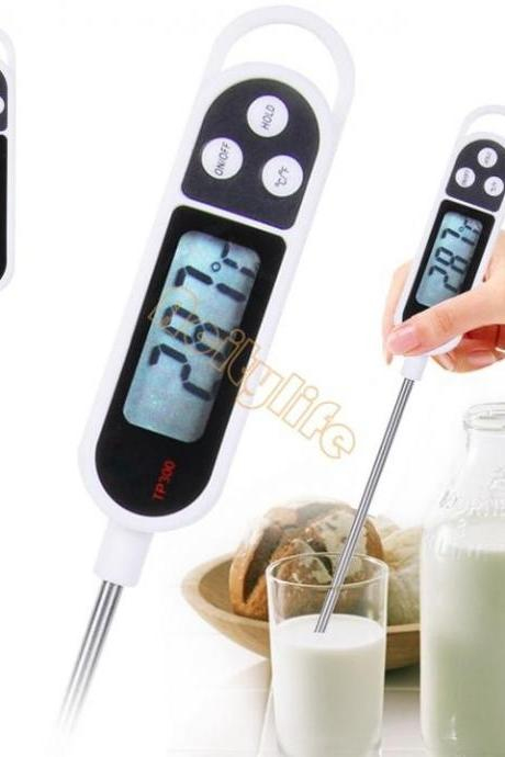 2015 Digital Probe Meat Milk Food Thermometer BBQ Cooking Thermometer Food Kitchen for Children White B16