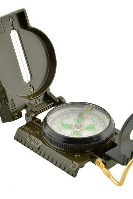 Pocket Military Outdoor Survival Camping Sighting Lensatic Compass 3in1