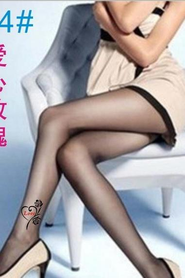 Womens Sexy Black Top Stripe Stay Up Thigh-Highs Stockings Tights Pantyhose Hot (Color: Beige)