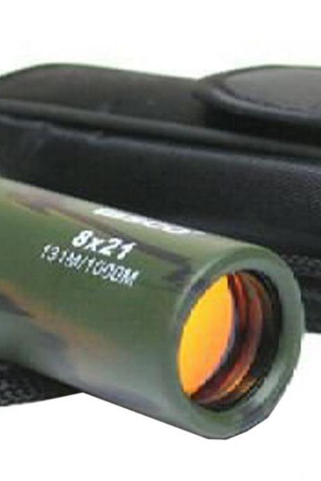 TravelMulti-coated Lense Military/Army Style 8x21 Compact Monocular Telescope (Color: Multicolor)