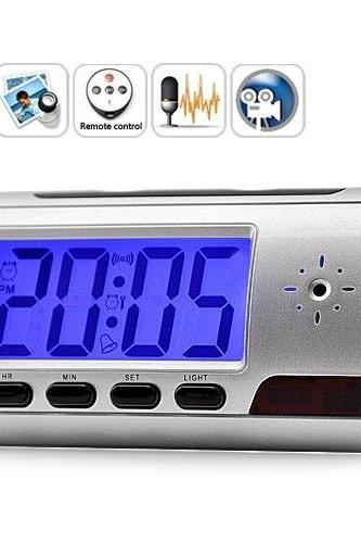 Digital Spy Camera Alarm Clock with Remote Control, Motion Detection, Mic for Audio, High Quality Video