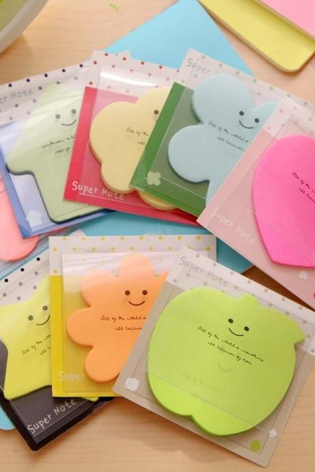 2 pcs Cute stickers candy-colored sticker notes scratch pads #lcmq