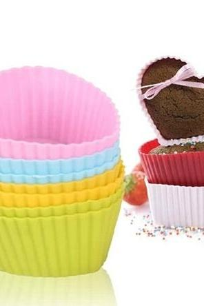 12pcs Jelly Pudding Silicone Cake Muffin Chocolate Bakeware Baking Cup Mold DIY Cupcake Mould