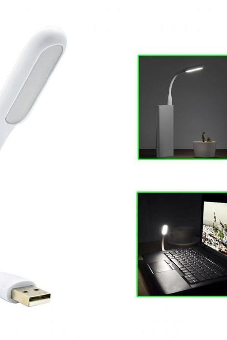 PLAY X STORE Mini USB LED Light Adjust Angle Portable Flexible Led Lamp with usb for powerbank PC Laptop Notebook Computer keyboard outdoor Energy Saving Gift Night Book Reading Lamp (White) (Color: White)