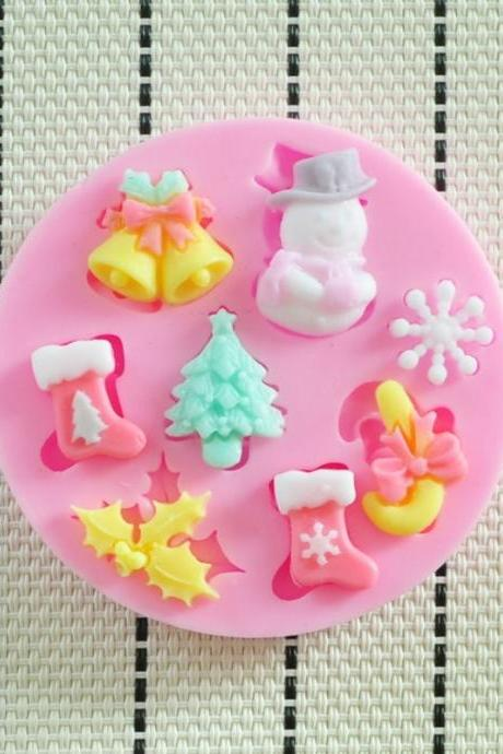 2014 NEW beautiful Christmas silicone mold,Fondant Cake Decorating Tools,forma de silicone,Silicone Cake Mold