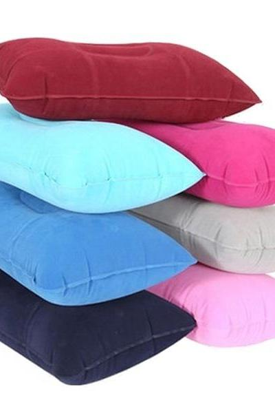 Double Sided Inflatable Pillow Mat Cushion For Camping Travel Sleep Rest
