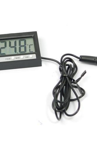 Hot sale -50~+70 Degree In Out LCD Digital Car Aquarium Fish Tank Sensor Digital Thermometer & Clock Fridge Freezer