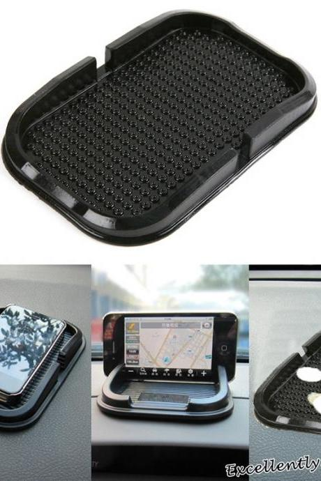 Black Car Dashboard Sticky Pad Mat Silicone Anti Slip Gadget GPS Cell Phone Mount Holder
