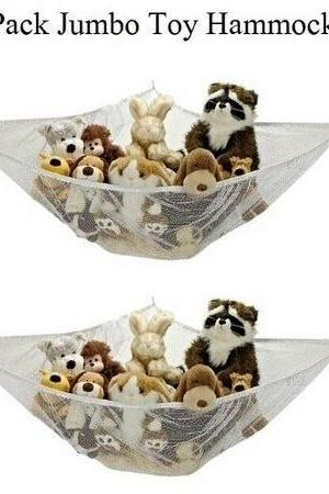 Large JUMBO Deluxe Pet Organize Corner Stuffed Animals Toys Toy Hammock (Color: White)