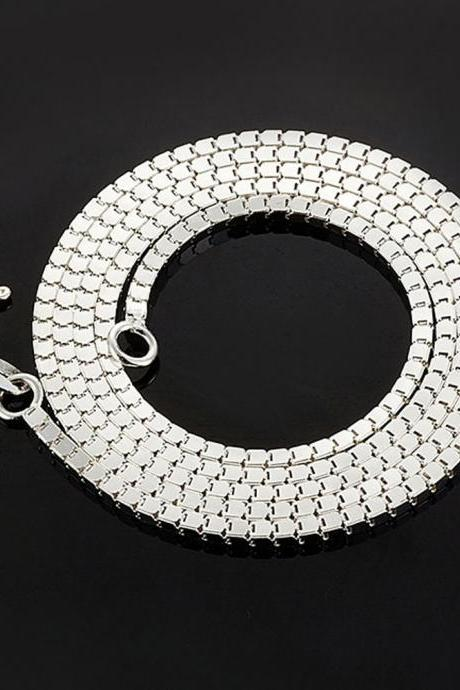 2015 Korean Unique Fashion Men's S990 Sterling Silver Snake Chain Necklace Nice Gift