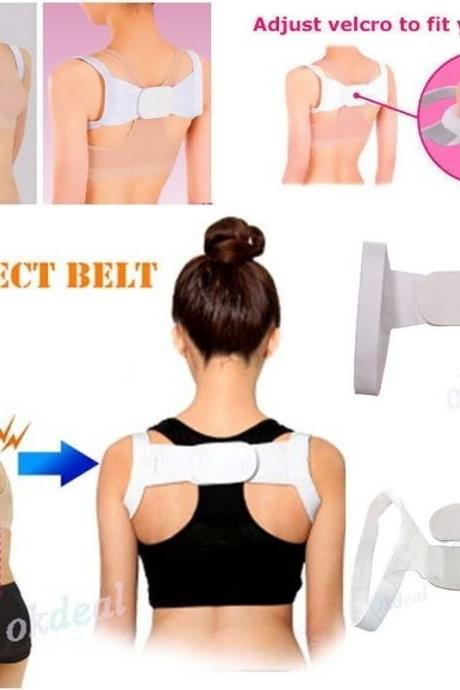 Women Adjustable Therapy Posture Body Shoulder Support Belt Brace Back Corrector