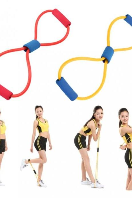 Resistance Band Yoga Pilates Abs Exercise Stretch Fitness Tube Workout Bands(random) (Color: Multicolor)