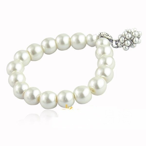 Fashion All-match Pearl Ball Bracelet Delicate Crystal Bracelet For Women